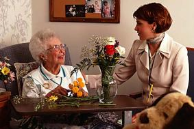Older Adult with Flowers - Link to Teaching Resources